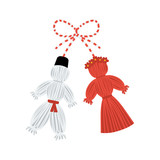 Vector martisor talisman, traditional accessory for holiday of early spring in Romania and Moldova. - 248043940