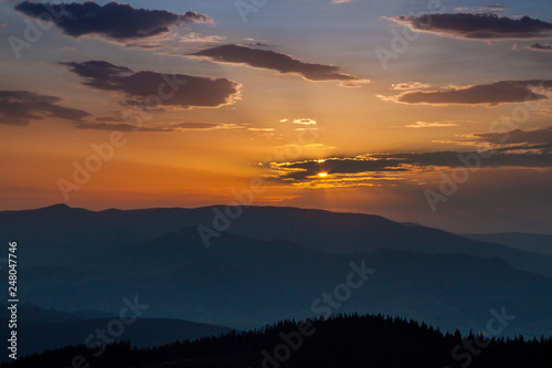 The Carpathians mountains