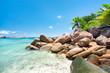 Tropische Insel auf den Seychellen