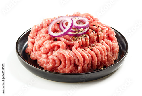 Leinwanddruck Bild raw minced meat