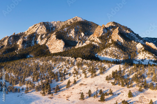 Bear Peak Aerial Sunrise Close-up - 248062997