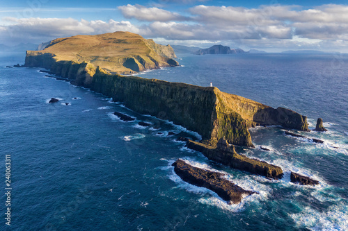 Mykines Cliffs and Lighthouse