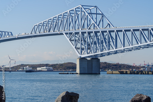 Tokyo Gate Bridge over Tokyo Bay in Japan.