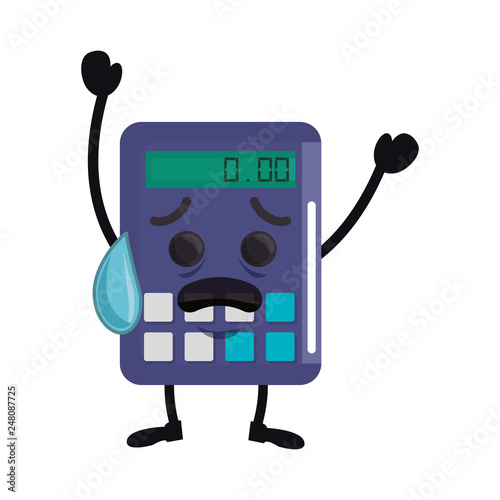 cute calculator math kawaii character - 248087725