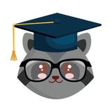 cute little raccoon character