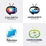 Television Logo Set Design Template Collection