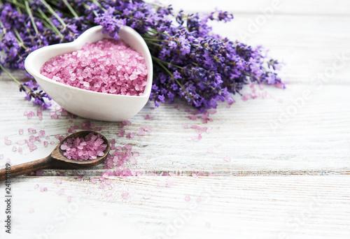 Lavender spa salt © almaje