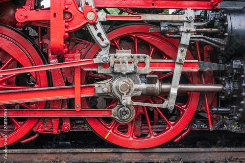 Leinwandbild Motiv old locomotive at the railway station