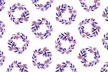"Постер, картина, фотообои ""Floral Pattern In Watercolor"""