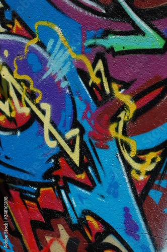 graffiti wall architecture texture urban grunge - 248163108