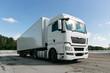 Quadro white truck with trailer