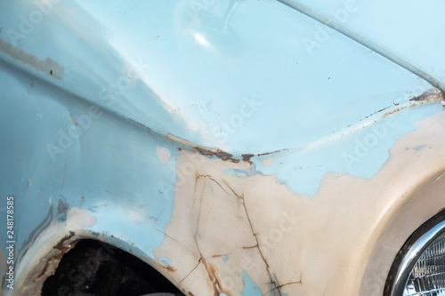 fototapeta na ścianę 車のボディ 劣化とさび Car body deterioration and rust, dents