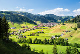 Eschholzmatt, a village in the Entlebuch UNESCO in the canton of Lucerne, Switzerland, Europe  - 248182504