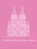 Cologne Cathedral Poster Vector illustration - 248185976