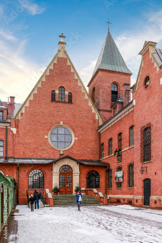 KRAKOW, POLAND -JANUARY 20, 2018: The Divine Mercy Sanctuary, Roman Catholic basilica