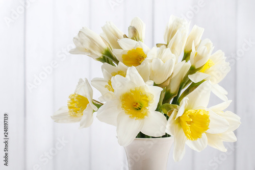 Bouquet of daffodils. - 248197139