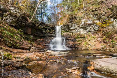 Sheldon Reynolds Waterfall in Ricketts Glen State Park of Pennsylvania - 248198763