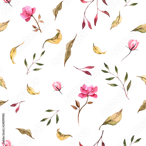 watercolor floral pattern - 248199985
