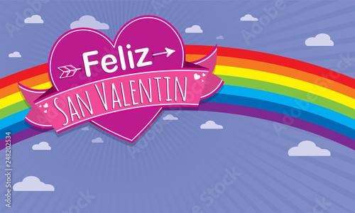 Card Cover With Message Feliz Dia De San Valentin Happy Valentines