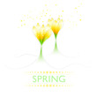 Background with pastel spring flowers - 248205336