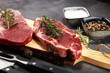 Leinwanddruck Bild - Steak raw. Barbecue Rib Eye Steak, dry Aged Wagyu Entrecote Steak.