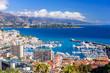 Cityscape and harbor of Monte Carlo. Aerial view of Monaco on a Sunny day, Monte Carlo, Principality of Monaco - 248218125