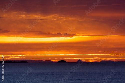 Cloudy Sunrise in New Zealand - 248247517