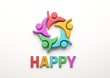Leinwanddruck Bild - Happy People Group. 3D Render Illustration