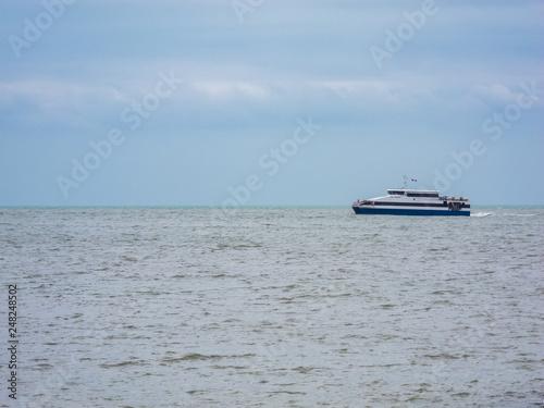 Passenger ferry docking at Surgidero de Batabano . Cuba © Kako