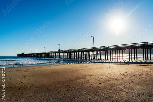 Beach and Pier on a Sunny Day © Mark