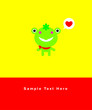 cute frog baby arrival message card