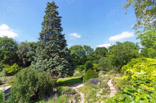 Jardin des plantes park in Paris city
