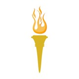 Torch symbol, Torch icon or logo