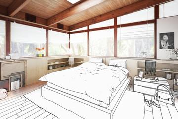 Verandaausbau zum Schlafzimmer (Projekt)