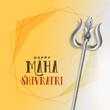 shivratri festival greeting with trishul