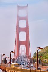 Golden Gate Bridge view at foggy morning © haveseen