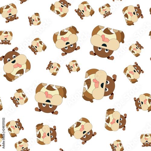 fototapeta na ścianę Seamless pattern of dogs.