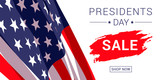 Vector Presidents Day Sale banner design template.