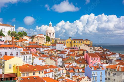 Leinwandbild Motiv Lisbon, Portugal old city skyline