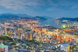 Nagasaki, Japan downtown skyline over the bay