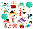 a vector of a clown vector set with many poses - 248333379
