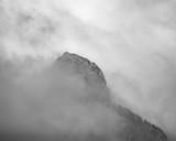 Mountain Top in Fog - 248340907