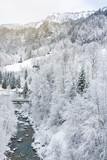 Fototapeta Natura - Winter scenery swiss alps © Felix Pergande