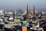 Blick vom Kirchturm der St. Michaelis Kirche über Hamburg - 248342737