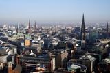 Blick vom Kirchturm der St. Michaelis Kirche über Hamburg - 248342743