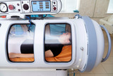 A pressure chamber is a device that saturates the body with a significant amount of oxygen. Hyperbaric oxygenation. - 248345158