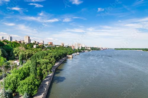 The view of the river don in the Voroshilovsky bridge.