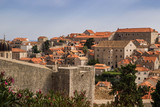 Overview to the old town of Dubrovnik, Croatia.