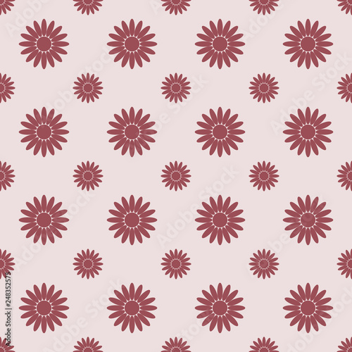 Seamless pattern with chamomile. Vector illustration. - 248352575