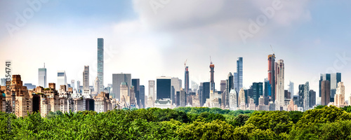 Amazing panorama view of New York city skyline and Central Park - 248354741